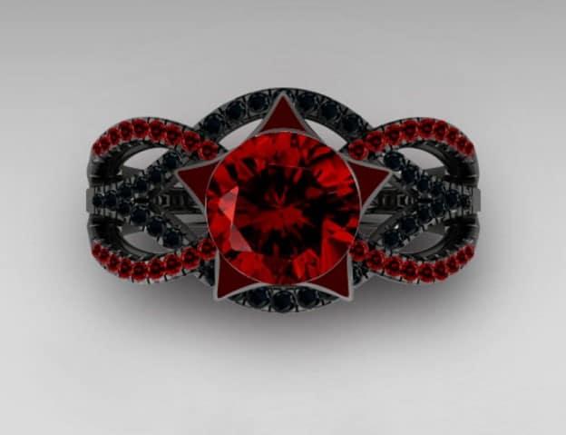 anillo de boda gótico