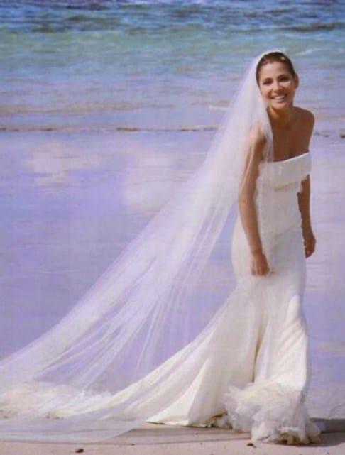 vestido de novia de Elsa Pataky