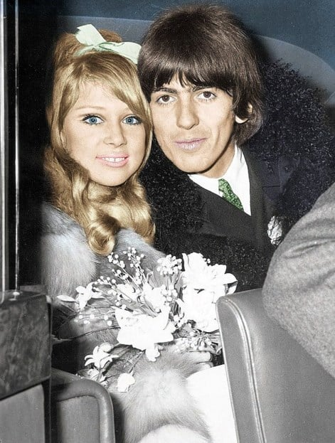 boda de George Harrison y Pattie Boyd