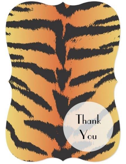 Invitación de boda piel de tigre