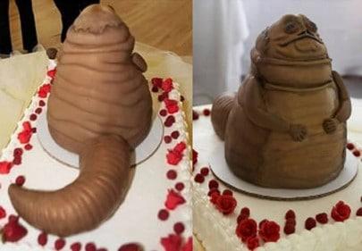 tarta de boda Jabba el Hutt frente
