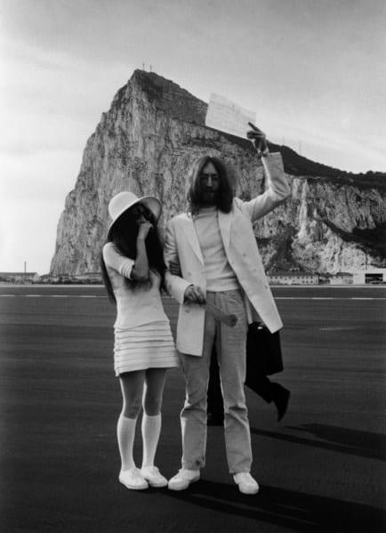 Boda de John Lennon y Yoko Ono