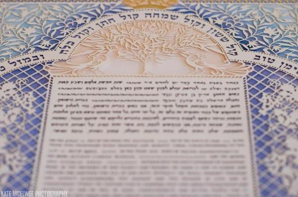 Ketubah de boda Israelí