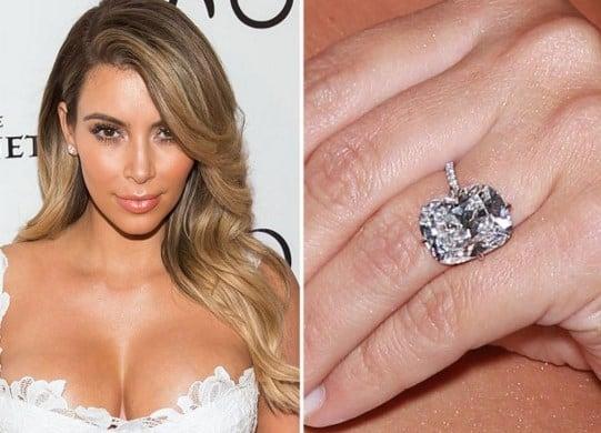 Anillo de compromiso de Kim Kardashian