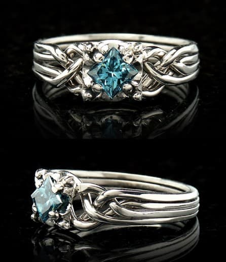 anillo diamante celta