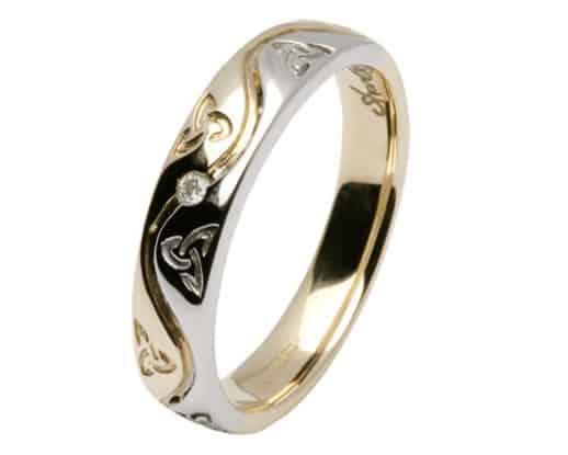 anillo con triqueta celta