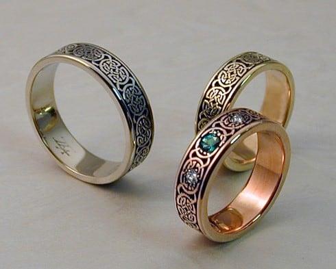 anillos de oro blanco