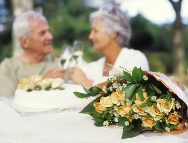 boda de oro flores