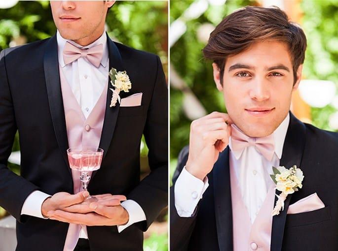 novio con detalles rosas