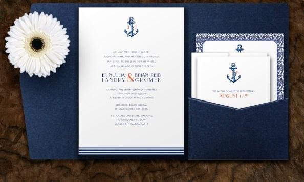 invitación de boda náutica