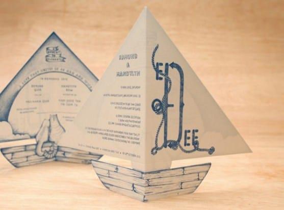 invitaciones de boda barcos
