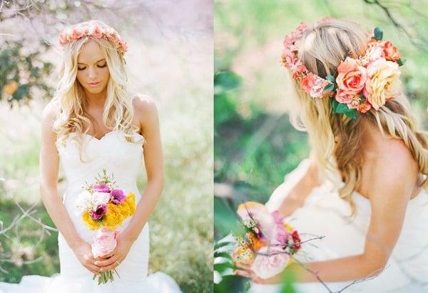 vestidos de novia hippies con flores