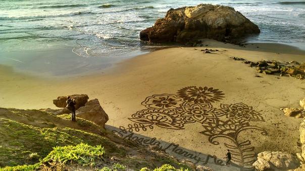 pedida de mano en la playa