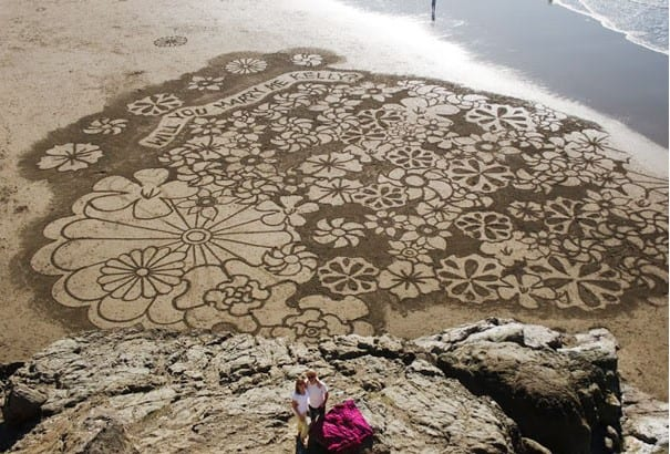 propuesta de matrimonio en playa
