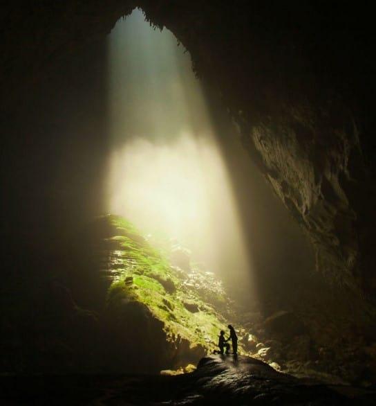 propuesta de boda en cueva