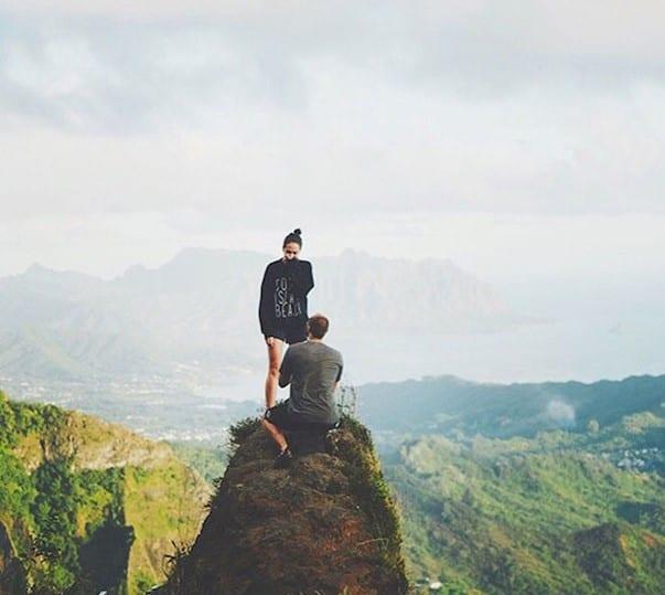propuesta en la montaña