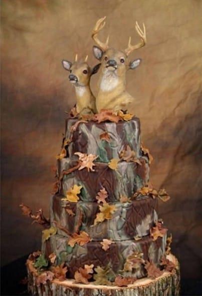 tarta de boda 2 ciervos