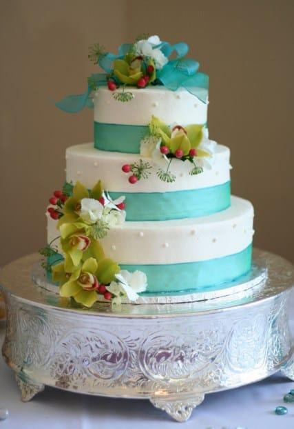tarta de boda vegetariana