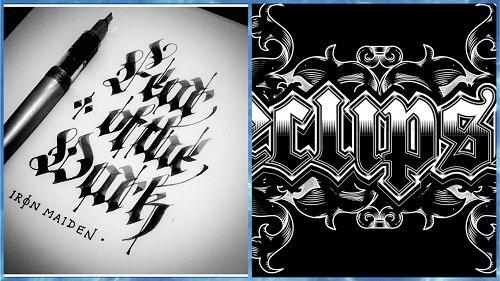 tipografía gotica