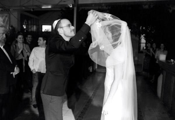 velo en boda judia