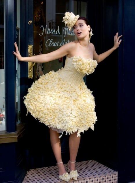 vestido de boda de chocolate