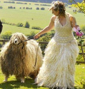 vestido de novia de oveja