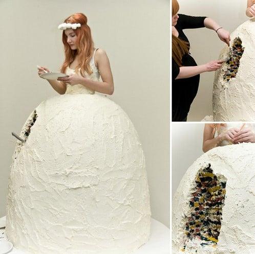 vestido de novia originales tarta