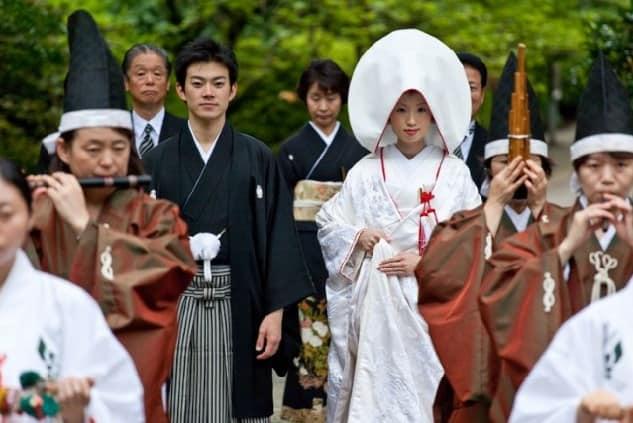 Novios Vestidos de Kimono