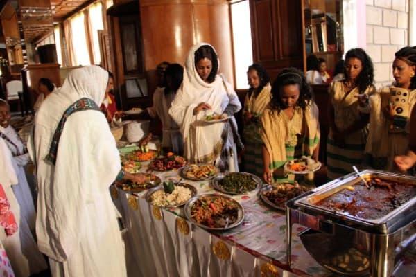 Recepcion de boda en etiopia