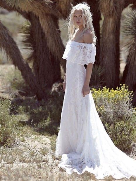 hippie boho vestido de boda