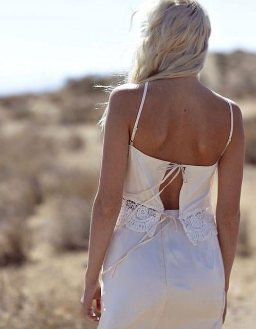 vestido de boda hippie de seda 2
