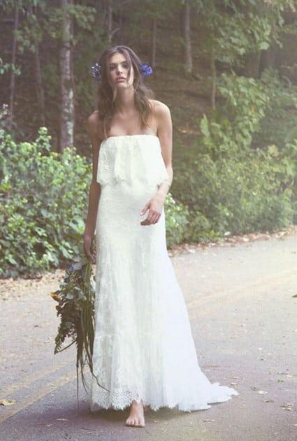 vestido de boda hippie