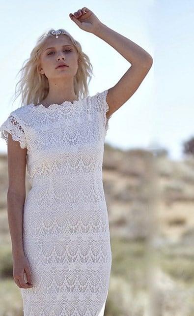 vestido de novia hippie chic 2