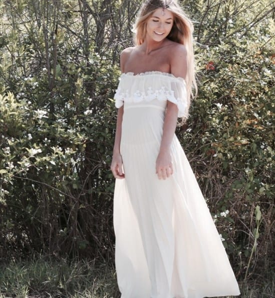 vestido de novia sin tirantes 2