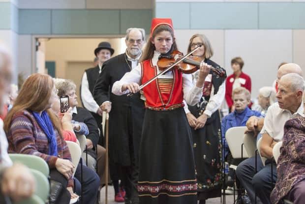 musicos en boda noruega