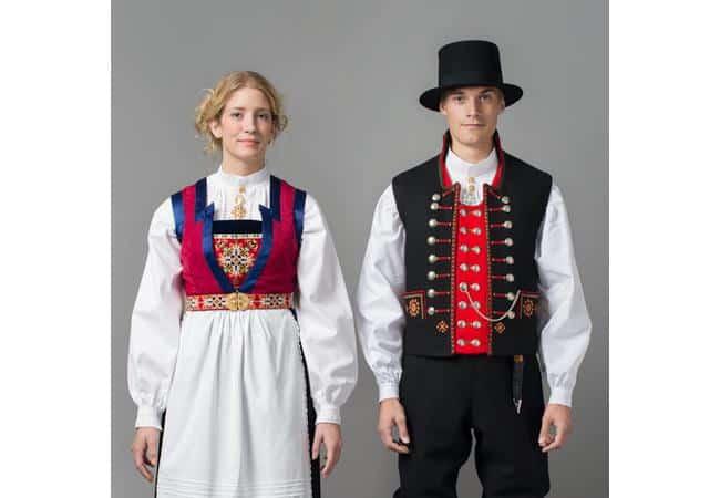 traje tradicional noruego de boda