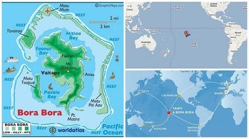 mapa isla bora bora