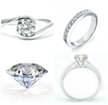 diamante de compromiso