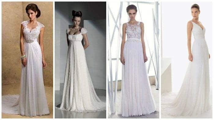 Tipos de estilos de vestidos de novia