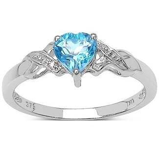 anillo con topacio