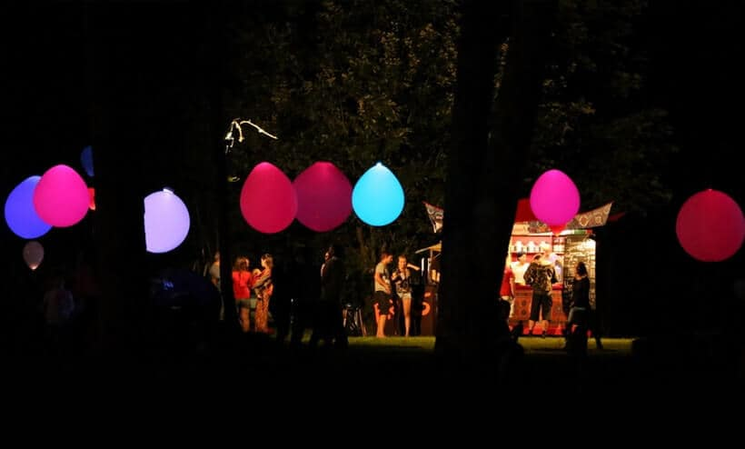 fiesta con globos led