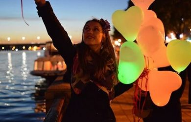 globos con led luz