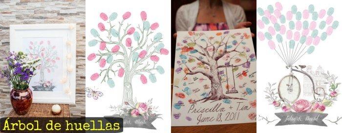 Árbol de huellas para boda [con plantillas para imprimir]