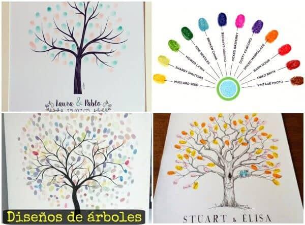 diseños de árbol de huella