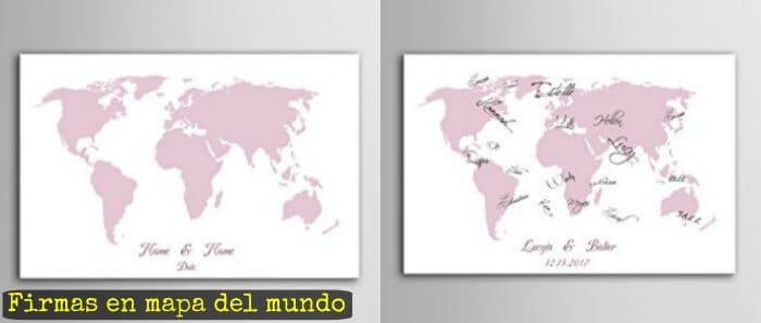 firmas en mapa del mundo