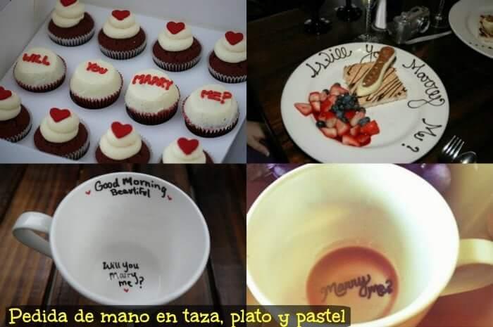 proponer matrimonio en taza y plato