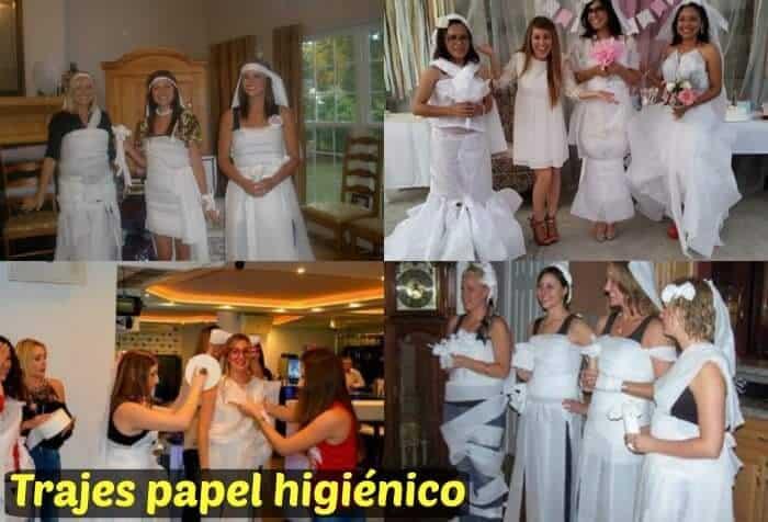 trajes de novia papel higiénico