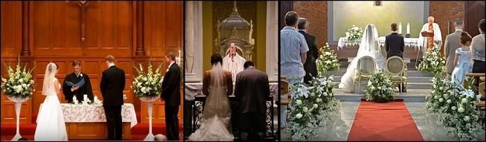 decoración del altar en boda