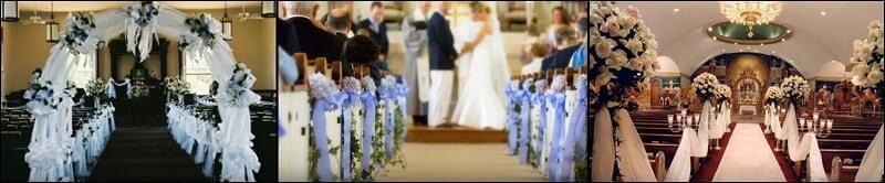 Arreglos de iglesia para bodas