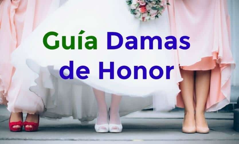 damas de honor en bodas